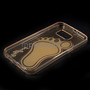 Protiskluzový gelový kryt na Samsung Galaxy S6 - zlatý - 6
