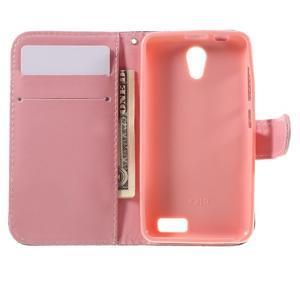 Styles peněženkové pouzdro na mobil Lenovo A319 - květiny - 6