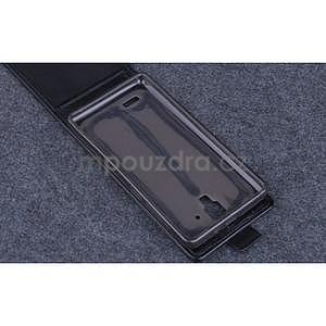PU kožené flipové pouzdro na Lenovo A536 - černé - 6