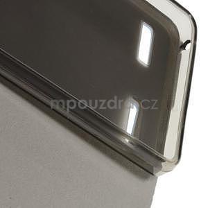 Peněženkové PU kožené pouzdro na Lenovo A6000 - modré - 6