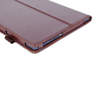 Dvoupolohový PU kožený obal na Lenovo Tab 2 A10-70 - hnědé - 6