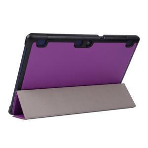 Trifold polohovatelné pouzdro na Lenovo Tab 2 A10-70 - fialové - 6