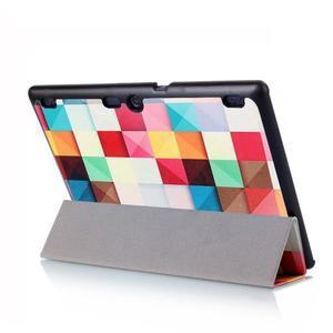 Polohovatelné pouzdro na tablet Lenovo Tab 2 A10-70 - barevné kostky - 6