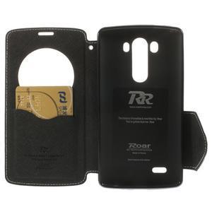 Diary pouzdro s okýnkem na mobil LG G3 - bílé - 6