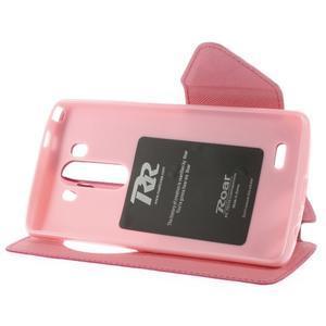 Diary pouzdro s okýnkem na mobil LG G3 - rose - 6