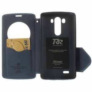 Diary pouzdro s okýnkem na mobil LG G3 - světlemodré - 6