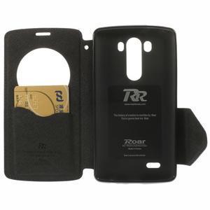 Diary pouzdro s okýnkem na mobil LG G3 - tmavěmodré - 6