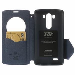 Diary pouzdro s okýnkem na mobil LG G3 - fialové - 6