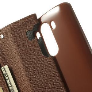 Goos peněženkové pouzdro na LG G3 - černé/hnědé - 6