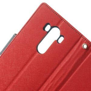 Goos peněženkové pouzdro na LG G3 - červené - 6
