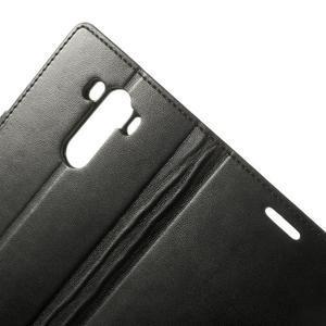 PU kožené pouzdro na mobil LG G3 - černé - 6