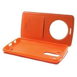 Roar peněženkové pouzdro s okýnkem na LG G3 - oranžové - 6