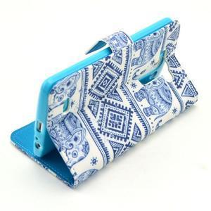 Obrázkové pouzdro na mobil LG G3 - modří sloni - 6