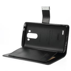 Luxusní PU kožené pouzdro na mobil LG G3 - černé - 6