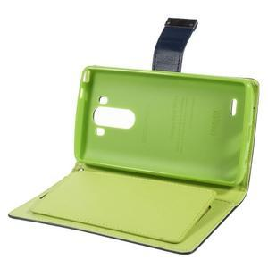 Luxusní PU kožené pouzdro na mobil LG G3 - tmavěmodré - 6