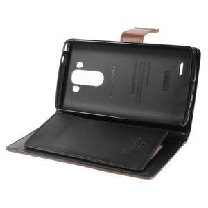 Luxusní PU kožené pouzdro na mobil LG G3 - hnědé - 6