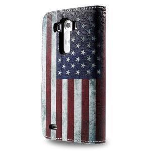 Motive koženkové pouzdro na LG G3 - US vlajka - 6