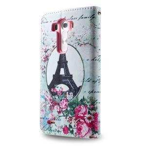 Motive koženkové pouzdro na LG G3 - Eiffelova věž - 6