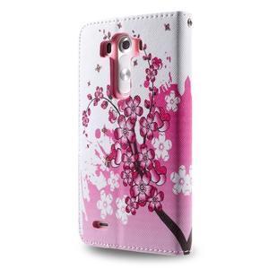 Motive koženkové pouzdro na LG G3 - kvetoucí větvička - 6