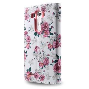 Motive koženkové pouzdro na LG G3 - květiny - 6