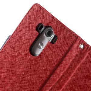 Cross PU kožené pouzdro na LG G3 - červené - 6