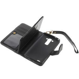 Patrové peněženkové pouzdro na mobil LG G3 - černé - 6