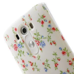 Gelový kryt na mobil LG G3 - kytičky - 6