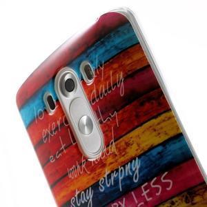 Gelový kryt na mobil LG G3 - barvy dřeva - 6