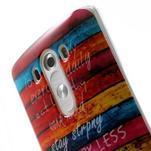 Gelový kryt na mobil LG G3 - barvy dřeva - 6/7