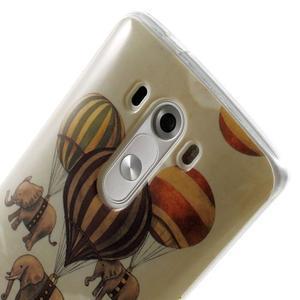 Gelový kryt na mobil LG G3 - sloni - 6