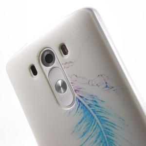 Silks gelový obal na mobil LG G3 - peříčko - 6