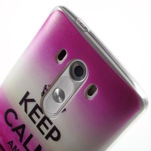 Silks gelový obal na mobil LG G3 - Keep Calm - 6