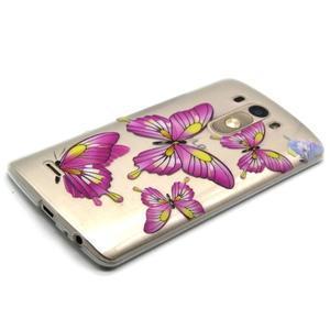 Průhledný gelový obal na LG G3 - motýlci - 6