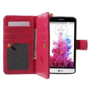 Patrové peněženkové pouzdro na mobil LG G3 - rose - 6