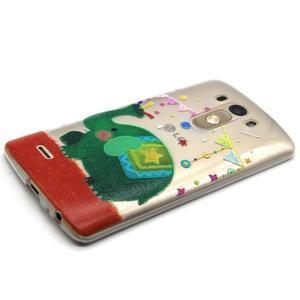 Průhledný gelový obal na LG G3 - slon - 6