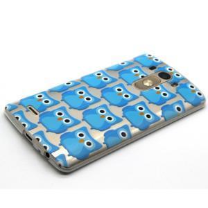 Průhledný gelový obal na LG G3 - modré sovičky - 6