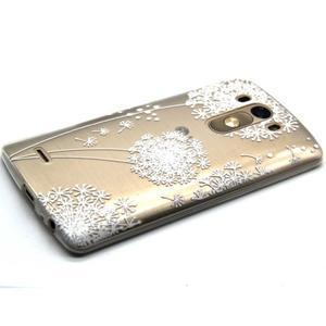 Průhledný gelový obal na LG G3 - bílá pampeliška - 6