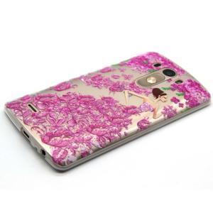 Průhledný gelový obal na LG G3 - šaty z růží - 6