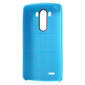 Lines gelový kryt na mobil LG G3 - modrý - 6