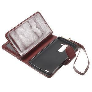 Patrové peněženkové pouzdro na mobil LG G3 - hnědé - 6