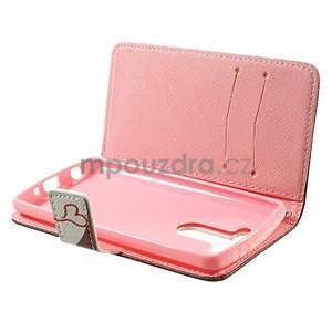 Zapínací peněženkové pouzdro pro LG G3 s - zamilovaní ptáčci - 6