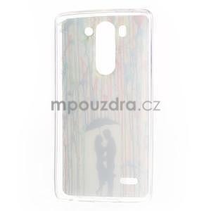 Gelový obal na LG G3 s - láska pod deštníkem - 6