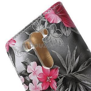 Elegantní lilie peněženkové pouzdro na LG G3 s - černé - 6