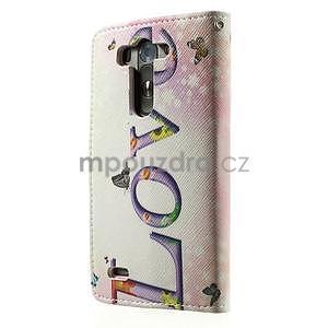 Zapínací peněženkové pouzdro pro LG G3 s - love - 6
