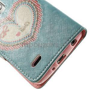 Zapínací peněženkové pouzdro pro LG G3 s - srdce - 6