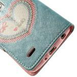 Zapínací peněženkové pouzdro pro LG G3 s - srdce - 6/7