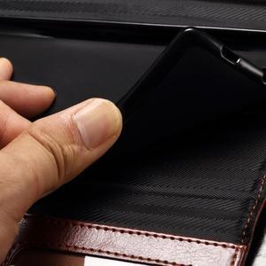 Enlop peněženkové pouzdro na LG G4 - hnědé/černé - 6