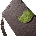 Leaf peněženkové pouzdro na mobil LG G4 - hnědé - 6/7