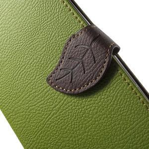 Leaf peněženkové pouzdro na mobil LG G4 - zelené - 6
