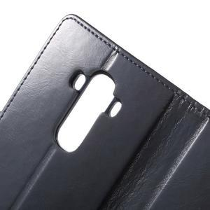 Luxury PU kožené pouzdro na mobil LG G4 - tmavěmodré - 6